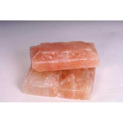 Соль гималайская, кирпич, рваный камень 20x10x5