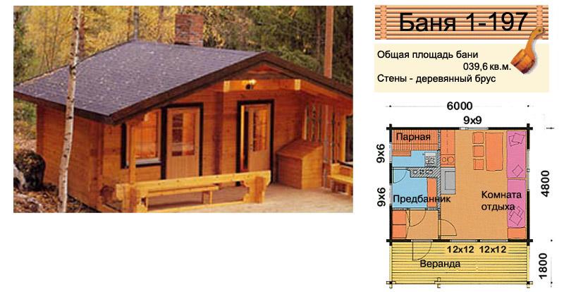 проект дачного дома из клееного бруса и бани