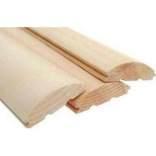 Блок-хаус сосна (живой сучок) 4,0 - 4,5 м, 105х35 мм, 125х35 мм цена м2