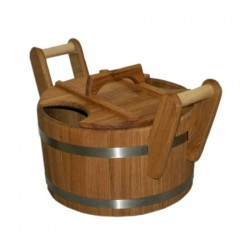 Запарник для бани 20л, из дуба