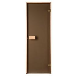 Дверь стеклянная матовая Saunax