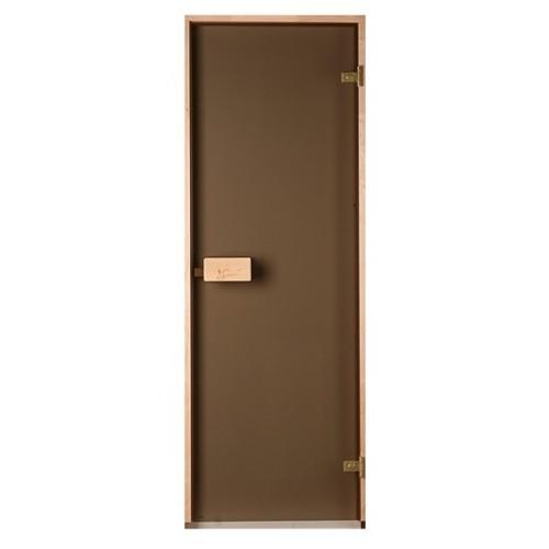 Стеклянные матовые двери Saunax bronze для парной
