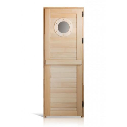 Деревянная дверь морская для сауны и бани