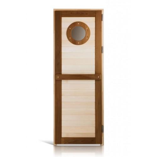 Деревянная дверь морская термо для сауны и бани