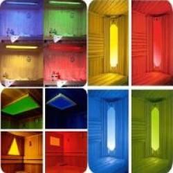 Цветотерапия в сауне, бане