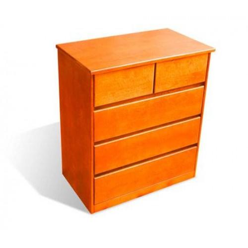 Деревянный комод из ольхи-  5-5-0.  Размеры (ШхВхД) - 880*1000*500
