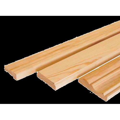 Наличник сосна 0-сорт длинна 2,2 м  ширина 50 - 115 мм толщина 13 мм.