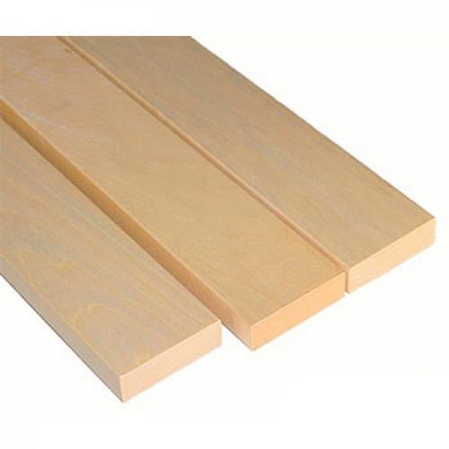 Лежак (полок) осина высший сорт (евро, класс 0) размер 80х25 мм без сучка, цена за м.п