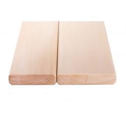 Лежак (полок) ольха высший сорт без сучка (евро, класс 0) 26х90, 1,0 - 2,6 м.п.