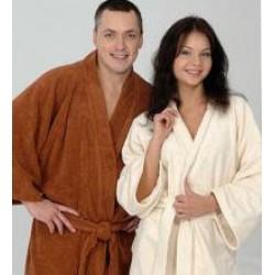 Халаты банные, полотенца на липучке (парео, килт) для сауны и бани.